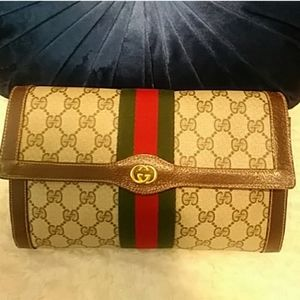 Gucci Authentic Cosmetic Travel Bag Clutch